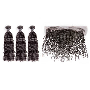 HJ Weave Beauty 7A Brazilian Virgin Hair Kinky Curly Bundle Deal