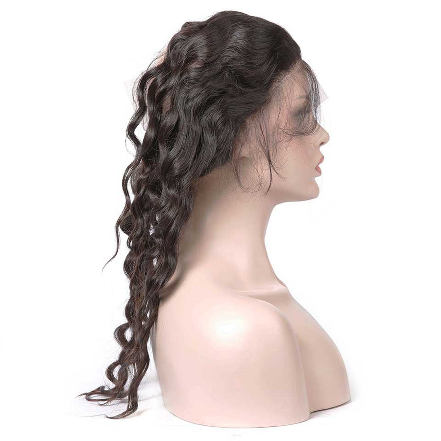 HJ Weave Beauty 360 Lace Frontal Human Hair Natural Wave