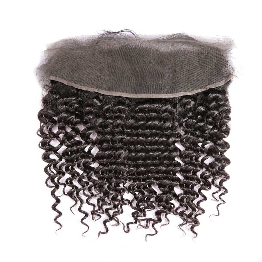 HJ Weave Beauty 13*4 Lace Frontal Brazilian Hair Deep Wave