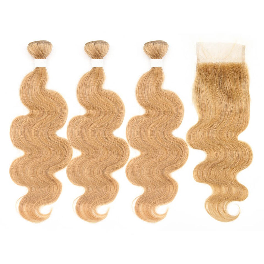 HJ Weave Beauty #27 Colored Virgin Hair Body Wave Bundle Deal