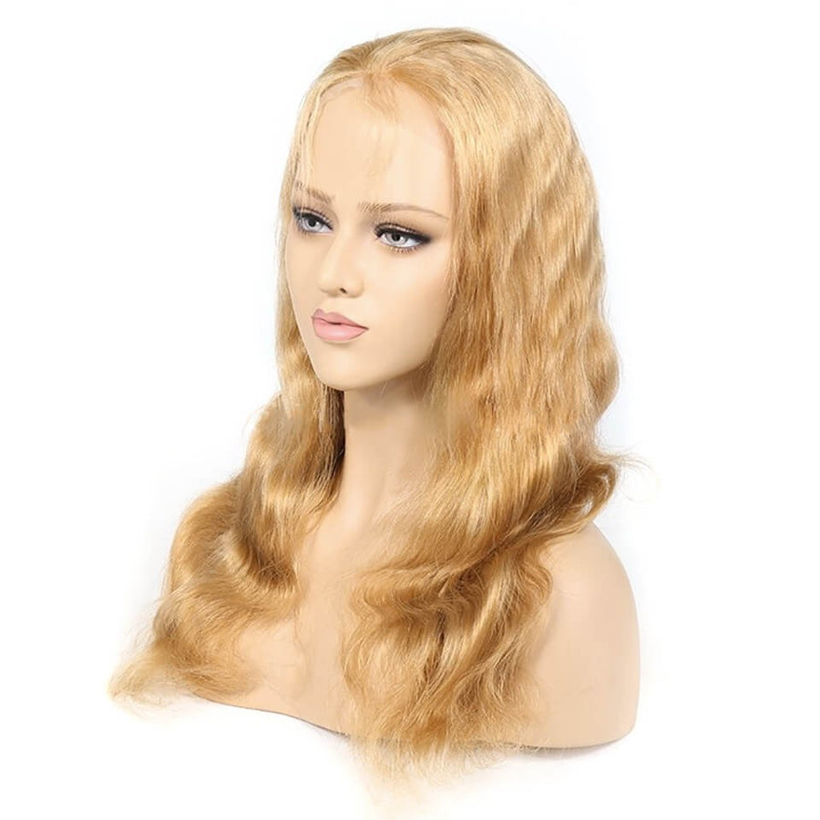 #27 Colored Hair Lace Front Wig Body Wave Colored Human Hair Lace Wigs