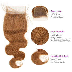 HJ Weave Beauty #30 Colored Virgin Hair Body Wave Bundle Deal