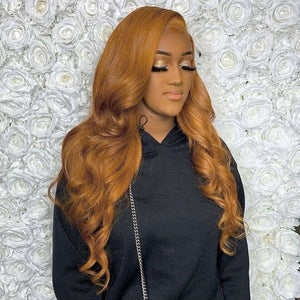 #30 Colored Hair 180% Density Lace Front Wig Body Wave Colored Human Hair Wigs
