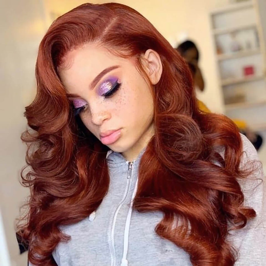 #33 Colored Hair Lace Front Wig Body Wave Colored Human Hair Lace Wigs