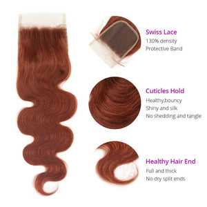 HJ Weave Beauty #33 Colored Virgin Hair Body Wave Bundle Deal
