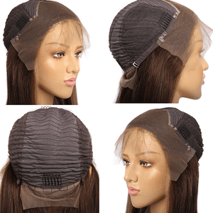 #1B/30 Highlight Color 13x4 Straight Lace Front Wigs 180% Density