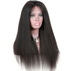 Kinky Straight 4x4 Lace Closure Wig Human Hair Lace Wig