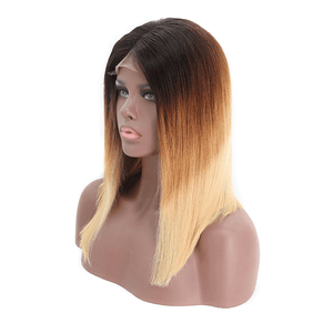 Straight Ombre Fall Color 4*4 Lace Bob Wig 180% Density