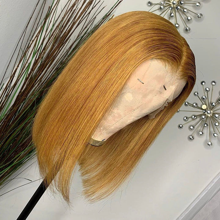 #27 Color 13x4 Lace  Bob Wig Straight 150% Density