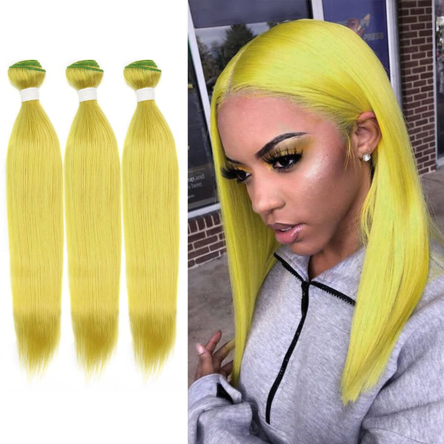 HJ Weave Beauty Green Colored Virgin Hair Straight Bundle Deal