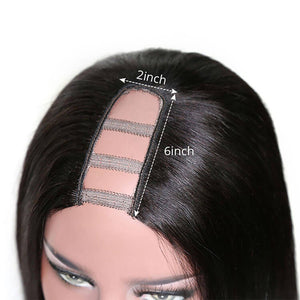 Straight U Part Wig Brazilian Human Hair Wigs