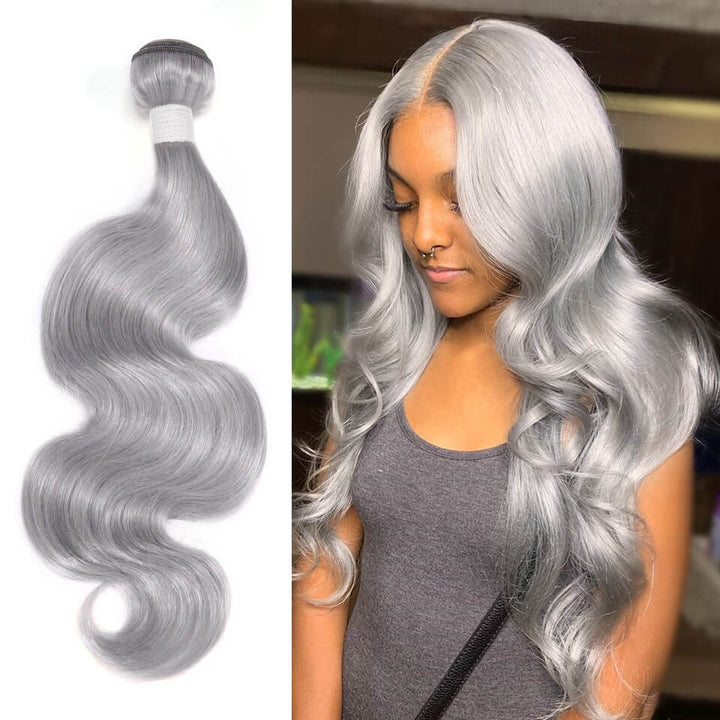 HJ Weave Beauty Silver Colored Virgin Hair Body Wave Bundle Deal
