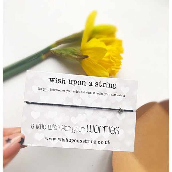 A Little Wish For Your worries - Wish String Bracelet - Card anxiety depression mental health