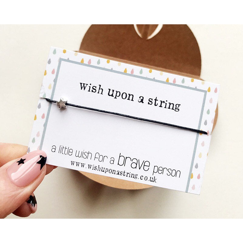 Little Wish For a brave person| Wish string bracelet | Wish Upon A String