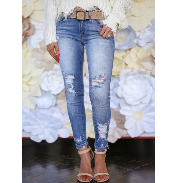Ripped Retro Slim Jeans