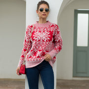 Christmas Snowflakes Hedging Sweater