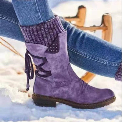 Retro Straps Arch Support Warm Boots