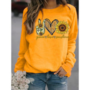 Gesture Sunflower Print Sweatshirt