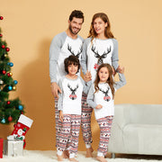 Christmas Elk Print Parent-child Pajamas