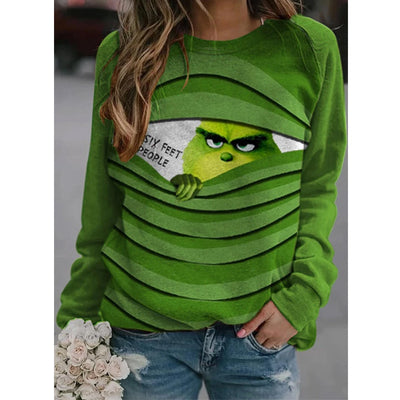 Fashion Christmas Grinch Casual Sweatshirt