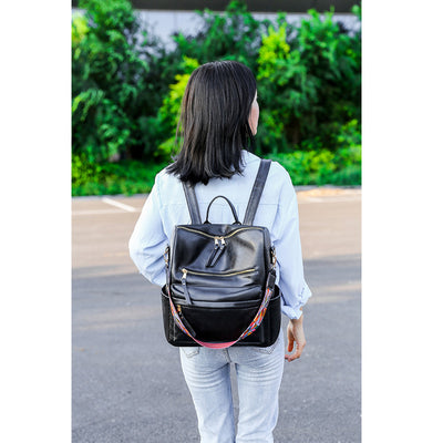 Fashion PU Retro Backpack