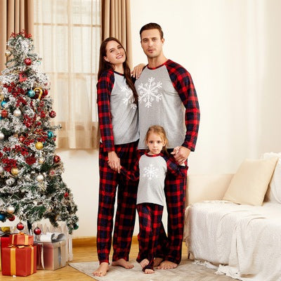 Christmas Snowflake Print Parent-child Pajamas