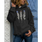 Feather Print Hoodie