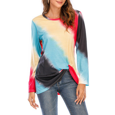 New Gradient Color Printing Long Sleeve