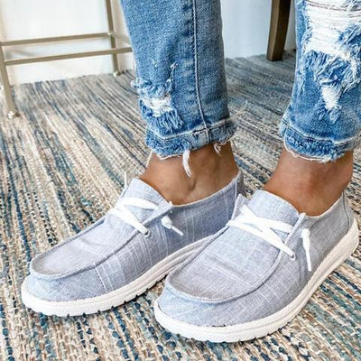 ❤️WOMEN'S CANVAS LACE-UP LOAFERS