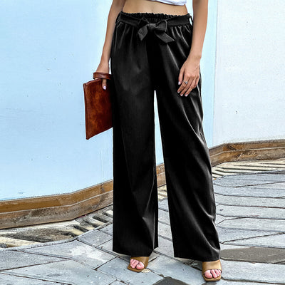 Pure Color Versatile Wide-leg Pants