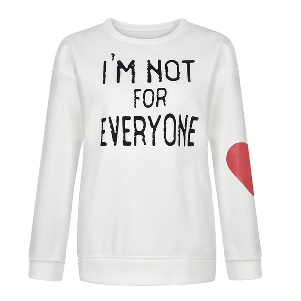 Love Letter Print Long-sleeved Sweatshirt