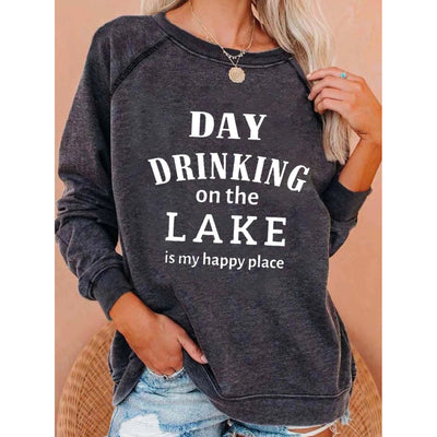 DAY DRINKING on the LAKE Print Long Sleeves