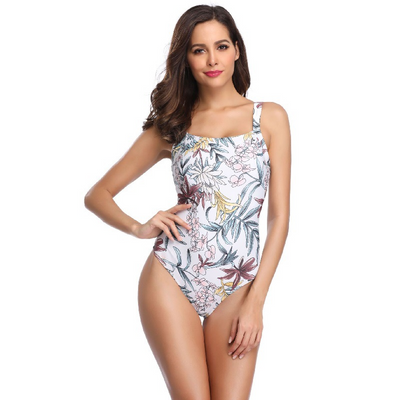 Newly Arrived Leaves Print One-Piece Swimsuit