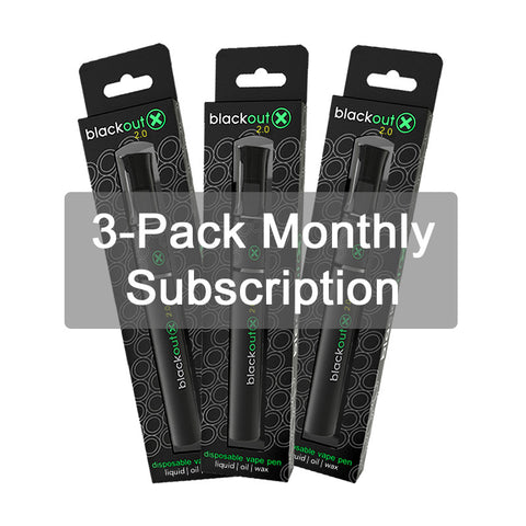Blackout X 3-Pen Monthly Subscription