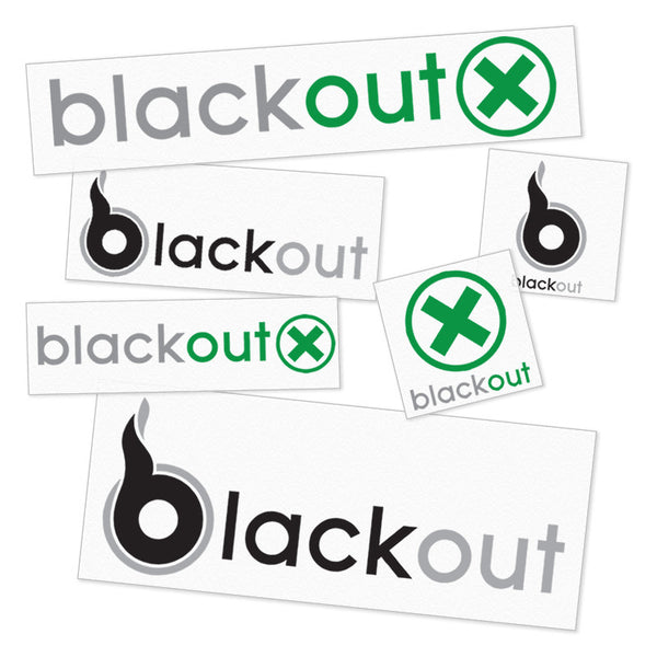 Sticker Pack - Blackout X