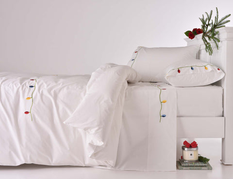 210TC Christmas Lights Festive Duvet Cover