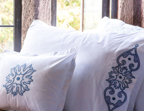 Chain Stitch Pillowcases