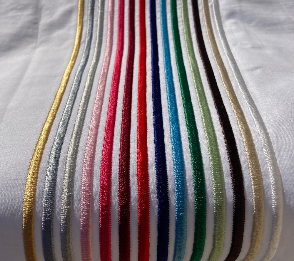 Coloured Satin Cord. 3 Row Flat Sheet