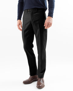 Super 130s Wool Gabardine, Black