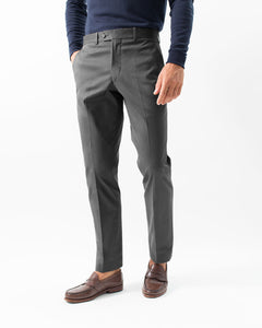 Cotton Stretch Chino, Charcoal