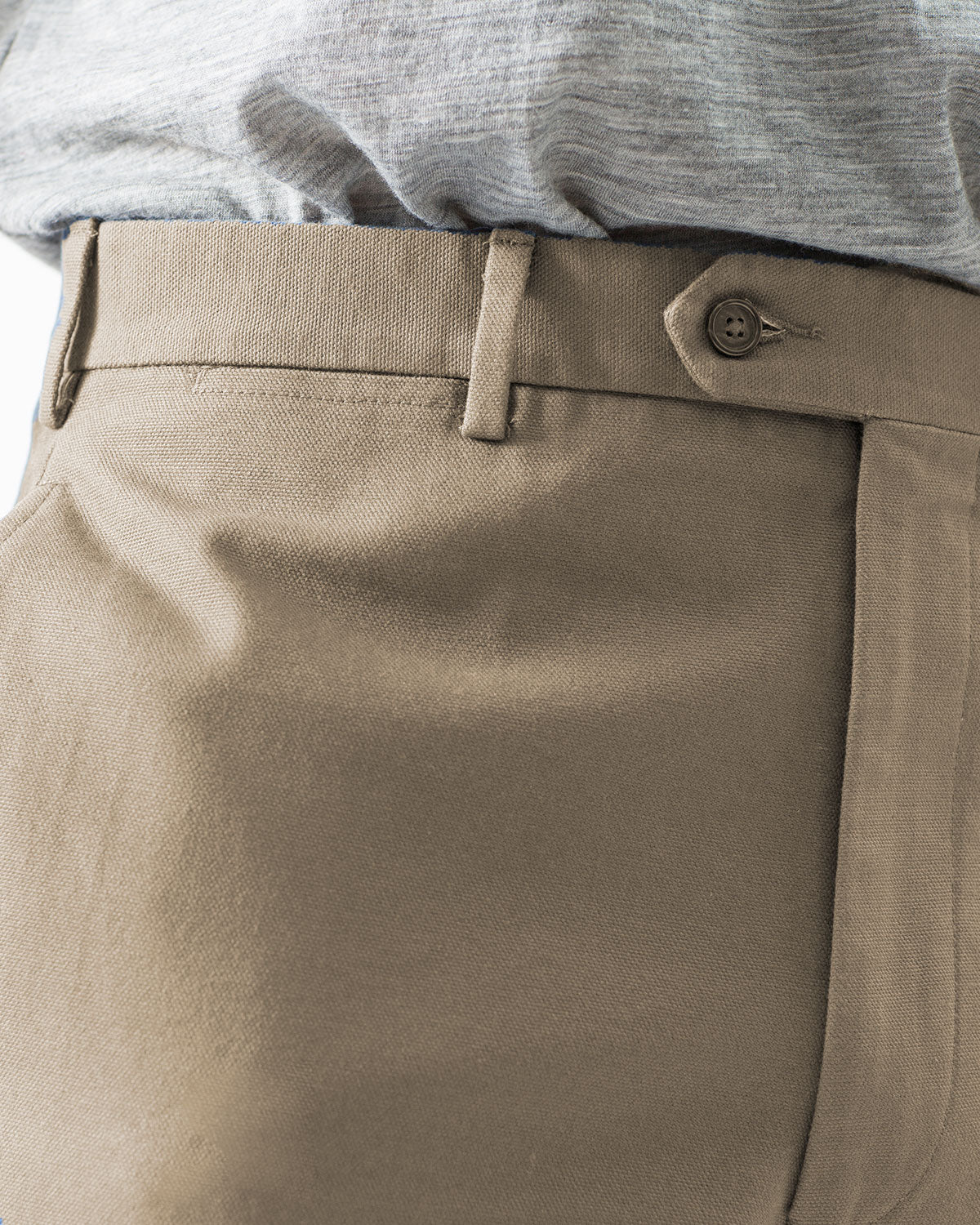 12oz Cotton Canvas Chino, Stone