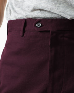 12oz Cotton Canvas Chino, Oxblood