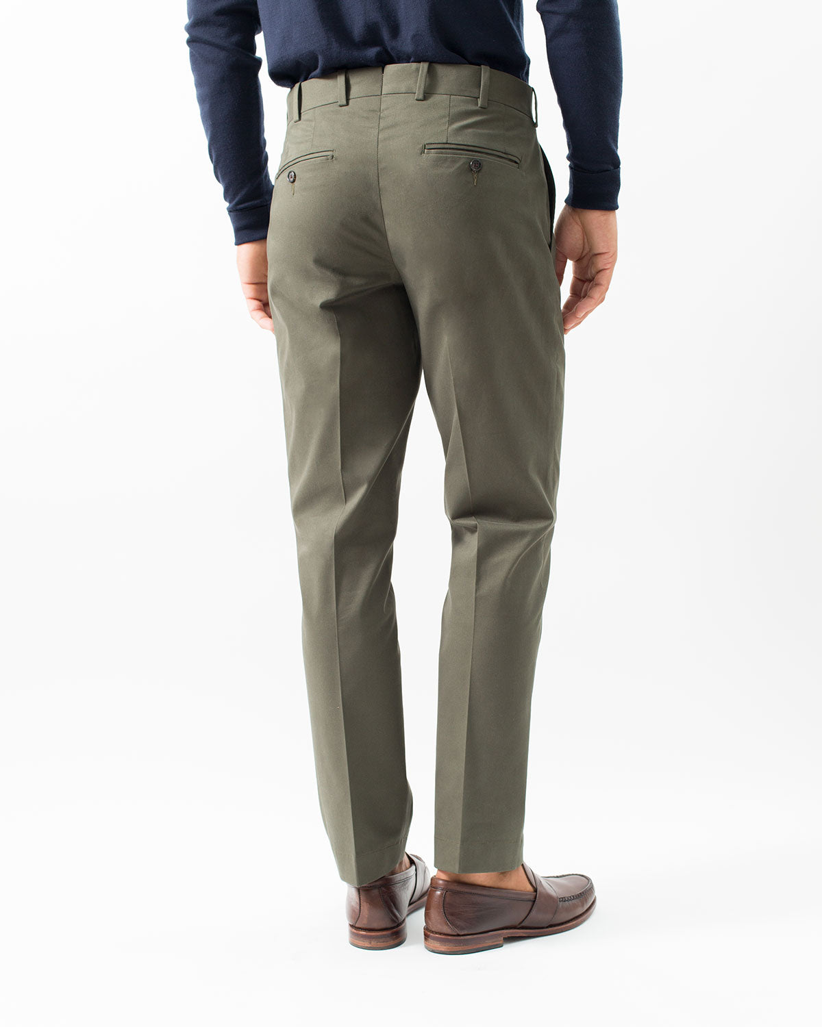 Cotton Stretch Chino, Olive