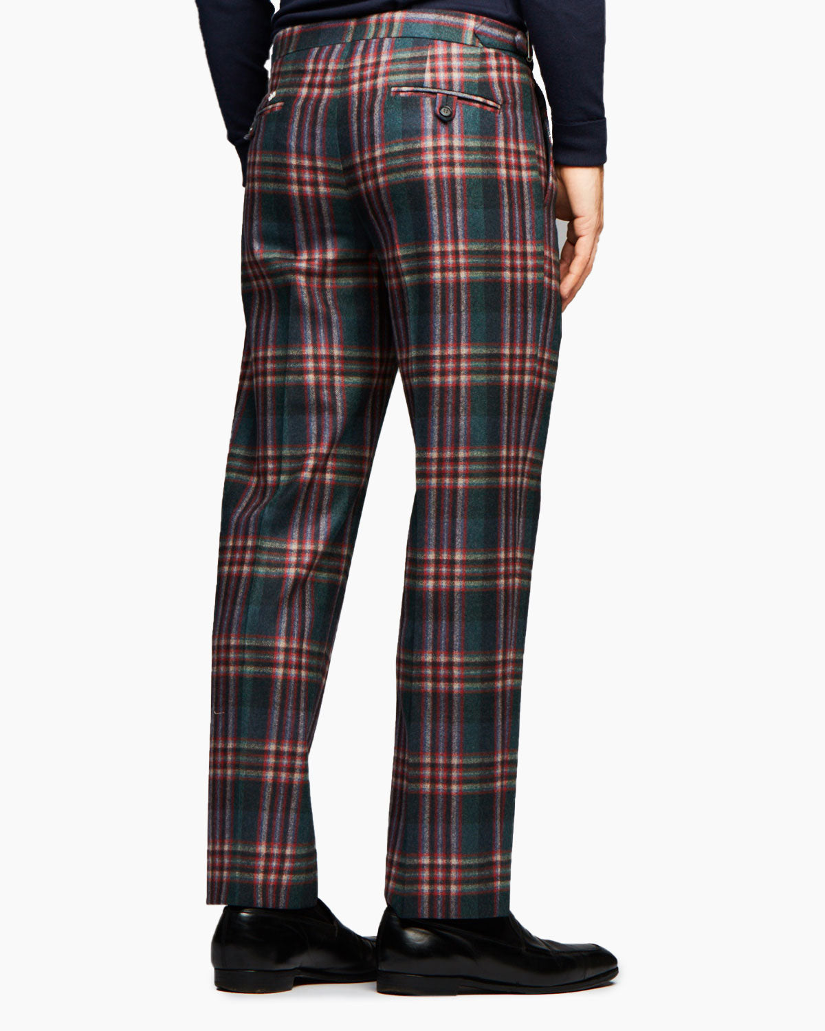 Super 120s Wool Flannel, Plaid