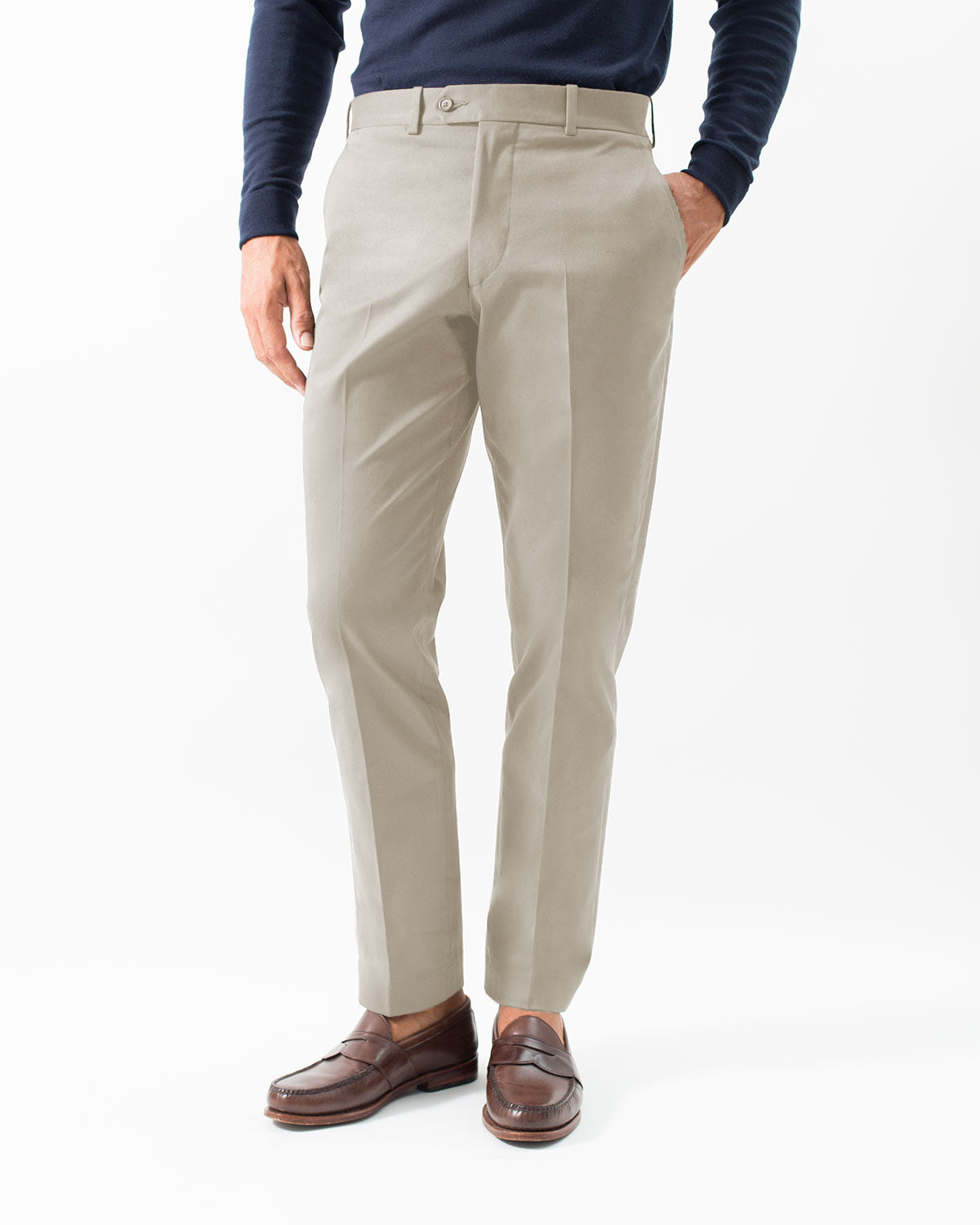 Cotton Stretch Chino, Stone