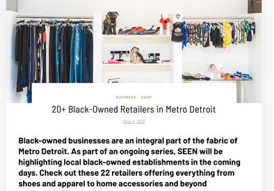 SEEN Magazine features Black Owned Retailers