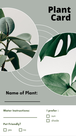 Sample Plant Card - free to download!