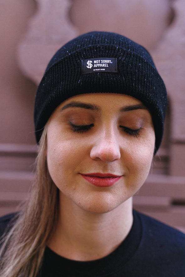 Not Sorry Label Beanie