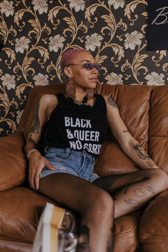 Black & Queer Not Sorry® Tank