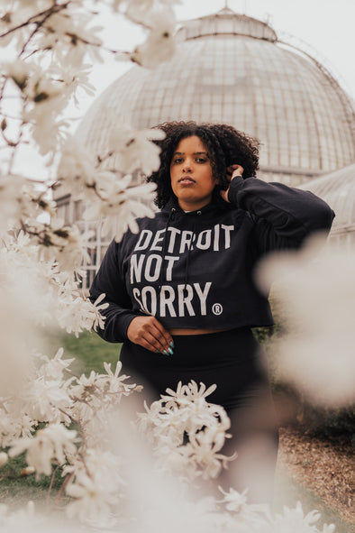 Detroit Not Sorry® Cropped Hoodie